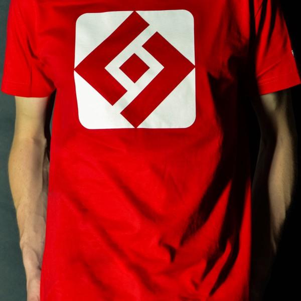 T-shirt Shuffle Diamond red