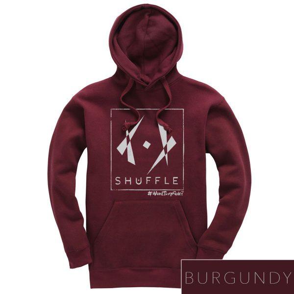 Hoodie SHUFFLE burgundy